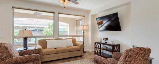 Resort Community Living Room Home for Sale